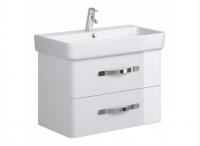 Neuesbad Serie 100 Waschtischunterschrank, B:740, T:420, H:500mm, weiss glänzend