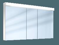Schneider Spiegelschrank Lowline 130/3/FL, 1x54W 1300x770x120 weiss, 151.130.02.02