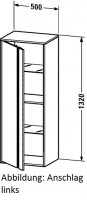 Duravit Hochschrank Ketho T:360, B:500, H:1320mm, KT1267L