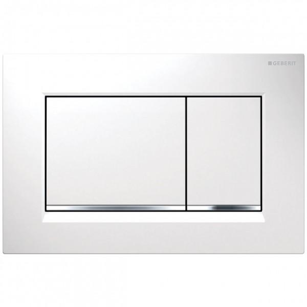 Geberit Betätigungsplatte Sigma30, für 2-Mengen-Spülung weiß / glanzchrom / weiß, 115883KJ1