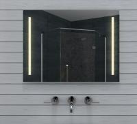 Neuesbad LED Lichtspiegel, Lichtfarbe wählbar,  80 x 60 cm