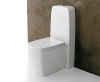 Axa one X-Tre Stand-WC Kombination mit Spülkasten, B: 400, T: 680, H: 950 mm, weiss