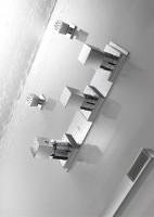 Tres Thermostat Unterputz Brausebatterie ( 3 Wegverteiler); CUADRO: Ausführung Chrom