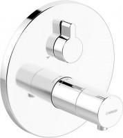 Hansa Funktionseinheit mit Dekorset Thermostat Wanenbatterie Hansaliving 4058, chrom., 40589083