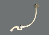 Luxus- Ab- und Überlaufgarnitur mit Wanneneinlauf und verst. Perlator, chrom
