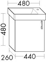 Burgbad Waschtischunterschrank Sys30 PG1 480x440x265 Weiß Matt, WURI044LF1719
