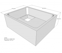 Neuesbad Wannenträger für Bette flach 85x70x15