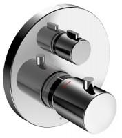 Keuco Thermostatbatterie Edition 400 51574, Ab-u.Umstellventil, UP,Schwarzchrom geb., 51574130181