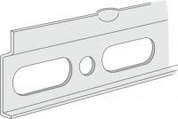 Sanipa Aufhängeschiene f. 400 mm Breite, ZB3639Z, H:15, B:350, T:15 mm