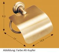 Papierhalter mit Deckel Siena chrom-gold