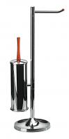 KOH-I-NOOR Koko Rollenhalter und Toilettenbürste H: 62 cm 5031, chrom