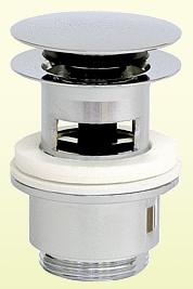 Neuesbad Ablaufgarnitur rund mit Verschluss Klick-Klack, mit Überlauf und großem Stopfen, D=65 mm x