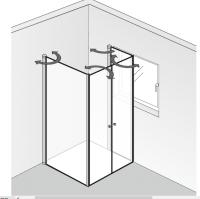 HSK Exklusiv Fensterlösung mit Profil-Drehfalttüren, 4-teilig