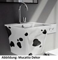 ArtCeram Cow Waschtisch/Aufsatzwaschtisch, B: 450, T: 450, H: 425 mm, schwarz glänzend