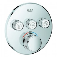 Grohe Thermostat Grohtherm SmartControl 29121 rund FMS 3 Absperrventile chrom, 29121000