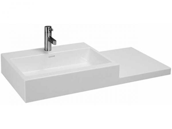 Laufen Waschtisch Living City 1000x460, weiß, mit Ablage links (40cm), 81843.1, 8184310001041