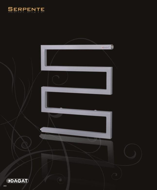 Design Badheizkörper Serpente II H:1150 x B: 500, weiss, Elektrobetrieb