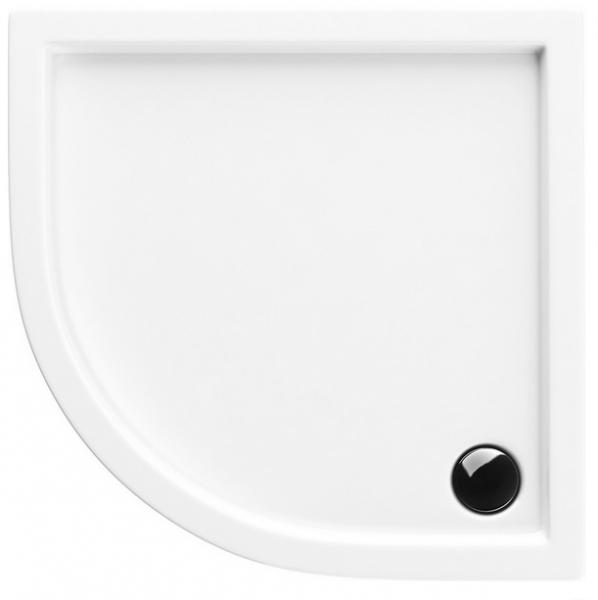 Neuesbad Acryl Viertelkreis Duschwanne 900 x 900 x 55 mm, weiss