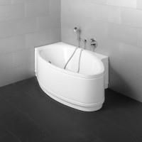 Bette Oval-Badewanne Pool I Comfort 6052, 161x102x45 cm Ecke links weiß, 6052-000CERV