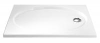 HSK Acryl Rechteck-Duschwanne flach 75 x 90 x 10 cm, ohne Schürze