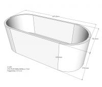 Neuesbad Wannenträger für Bette Lux (oval) 1700x750