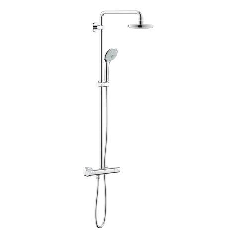 GROHE Duschsystem Euphoria 27296 mit AP-Thermostat 450mm Duscharm chrom
