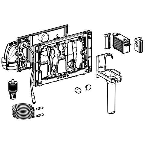 Geberit Duofresh Modul mit manueller Ausl. für Sigma UP-SPK 12 cm glanzverchromt, 115051211