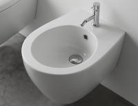 Globo Bowl+ Wand-Bidet, B: 380, T: 500 mm, mit 1 Hahnloch, weiss