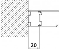 Kermi Stockverbreit. Ibiza 2000 SVSVE2000 silber mattglanz, ZDSVSVEI22001K