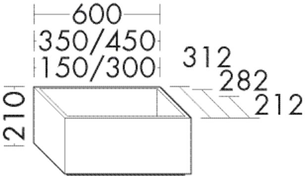 Image of Burgbad Sockel Sys30 PG3 210x600x212 Anthrazit Matt, SOAG060F3358 SOAG060F3358