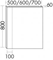 Burgbad Leuchtspiegel RL40 Melamin 800x500x60 Melamin Weiß, SP219_BR0500LF4950