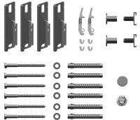 Kermi Wandkonsolen-Set kurz Verteo für Typ 10, WA 60mm, weiß