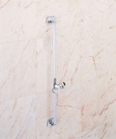 Geesa Hotel Collection Brausestange mit Handbrausegleiter trapezförmig