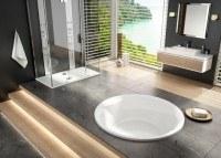 Hoesch Badewanne Tondo Rund 1700, weiß , 6630.010