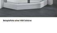 HSK Acryl Schürze 11 cm hoch, für HSK Viertelkreis Duschwanne 100 x 100 cm
