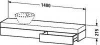 Duravit Konsole mit Schubkasten , Front/Korpus: graphit matt, FO838304949