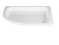 HSK Acryl Viertelkreis-Duschwanne flach 90 x 90 x 10 cm, ohne Schürze