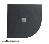 Fiora Silex extraflache Viertelkreis Duschwanne nach Maß, 81-90 x 81-90 cm Höhe: 3 cm