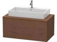 Duravit Waschtischunterschrank Delos f. Konsole 438x1000x548mm 1 Auszug, Amerik.Nussbaum, DL57140131