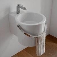 Scarabeo Bucket Aufsatz- oder Hängewaschbecken B: 30 T: 40 cm weiß 8802