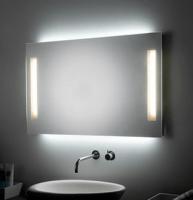 KOH-I-NOOR PL Spiegel mit Raumbeleuchtung und Spiegelbeleuchtung, B:140 cm, H: 60 cm
