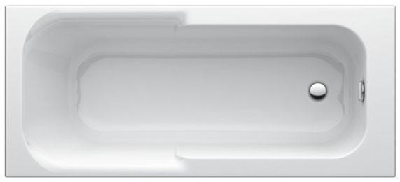 Körperform-Badewanne Playa 1700x700mm weiss T962601