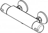 Hansa Brause-Therm.-Batterie für Wandaufbau Hansamicra 5815 2171 verchromt, 58152171
