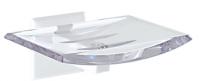 KOH-I-NOOR Tilda 5717 Seifenschale 13x 10,5x5,5 cm chrom, einfache Montage ohne Bohren
