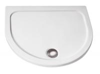 HSK Acryl Halbkreis-Duschwanne super-flach 110 x 90 x 3,5 cm, ohne Schürze