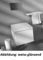 ArtCeram Block Wand-Tiefspül-WC, B: 360, T: 490 mm, schwarz / weiss Dekor