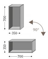 Sanipa Cubes offen CU10214, Pinie-Grau