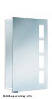 HSK Aluminium-Spiegelschrank ASP 500, B: 450 mm, H: 750 mm, T: 125mm, Anschlag links