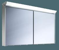 Schneider Spiegelschrank Slideline 120/2/FL, 1x54W+1x28W 1200x750x130 alueloxiert, 119.120.02.50