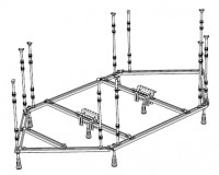 Hoesch Untergestell für für Whirlwanne Sechseck 1800x900, 121929